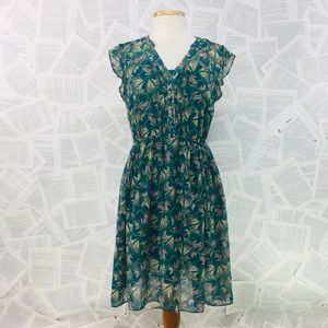 ModCloth Spring Butterfly Sheer Overlay Dress M